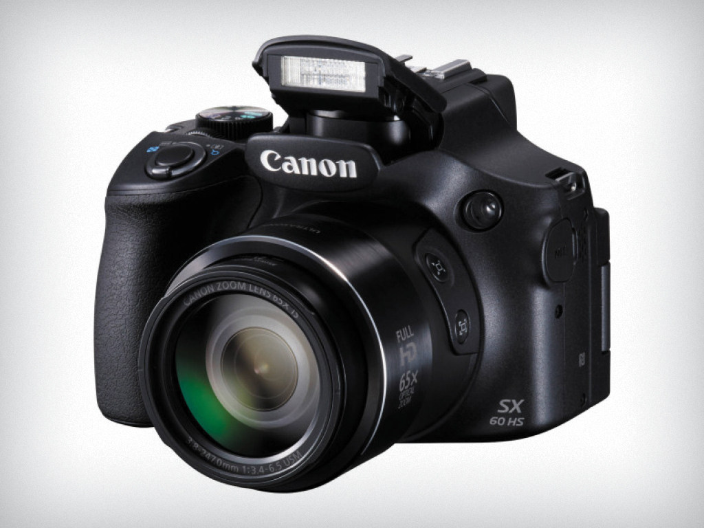 Photo: Canon PowerShot with tripod and green screen
