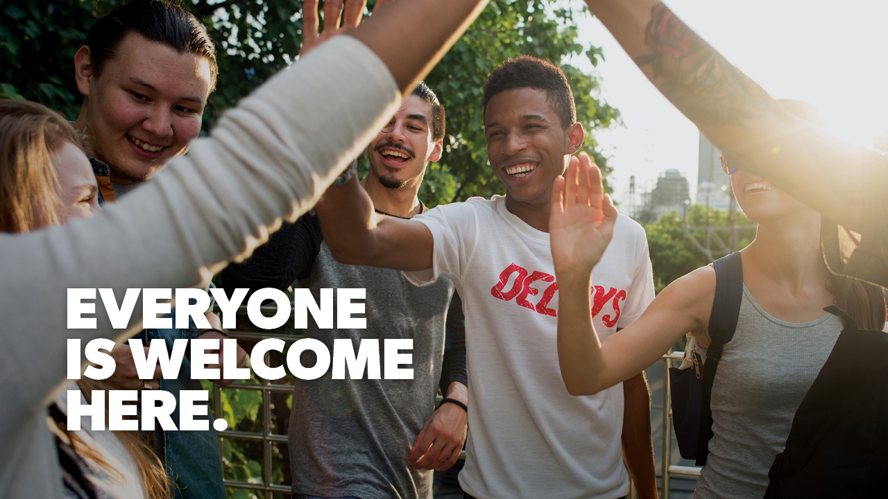 Graphic: Everyone is welcome here