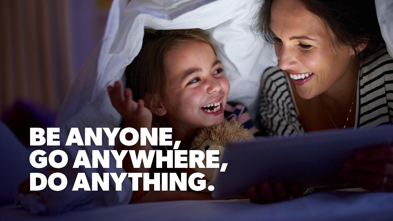 Image: Stock image. Be Anyone. Go Anywhere, do anything.