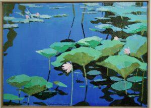 summer lotus painting